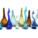 12 Persian Rose Water Sprinkler Bottles, dating from the 17th to the early 20th century.