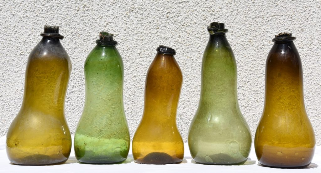 Five Double Gourd Transport Bottles